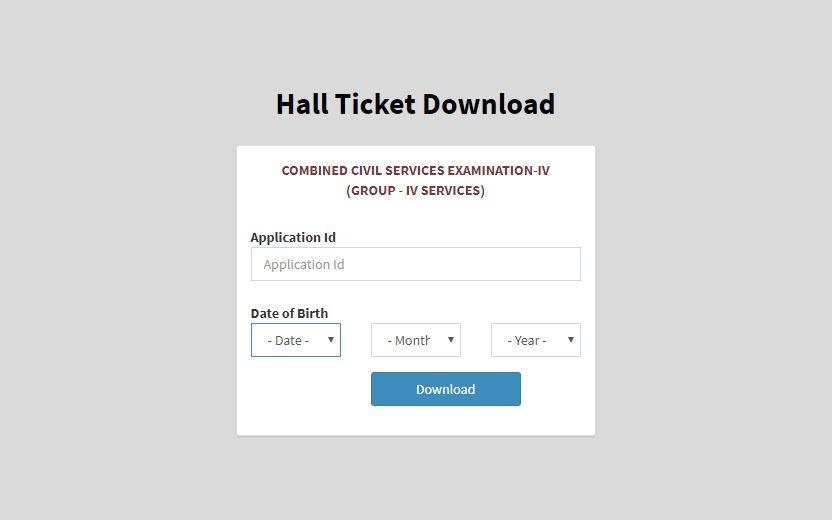Group 4 hall ticket released