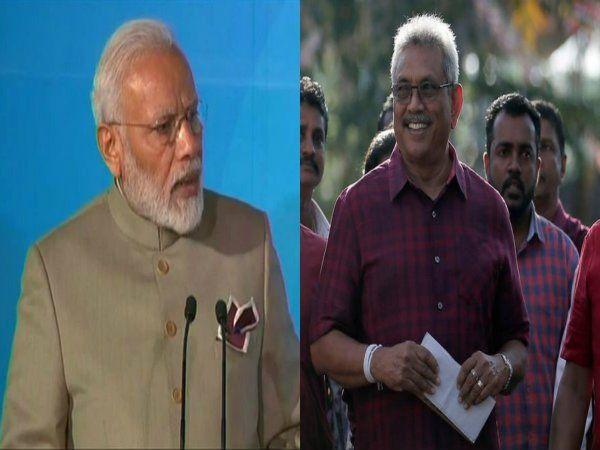 Narendra Modi and Gotabaya Rajapaksa
