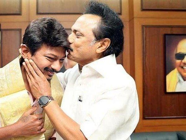 Udhayanidhi stalin and M.K.stalin