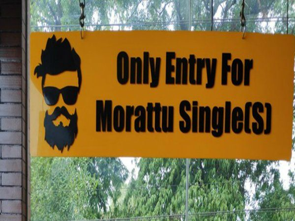Special Space for 'Morattu Singles' in a Hotel