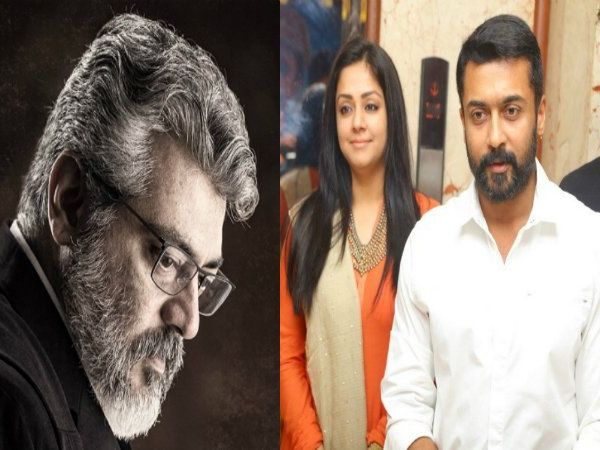 Suriya-Jyothika laud Ajith Kumar's performance in Nerkonda Parvai, sends bouquet