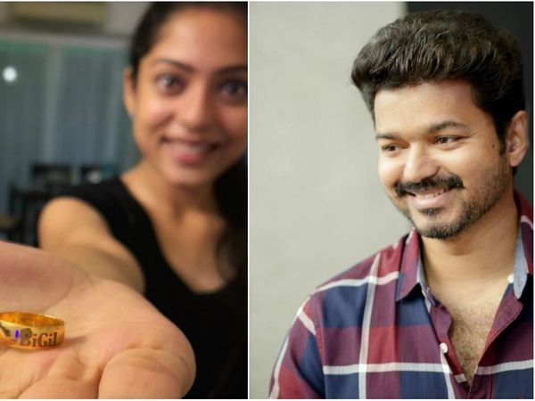 Vijay gifted golden ring to Bigil crew