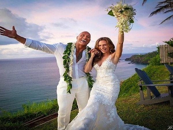நடிகர் டிவைன் ஜான்சன் திருமணம், Actor Dwayne Johnson Marriage