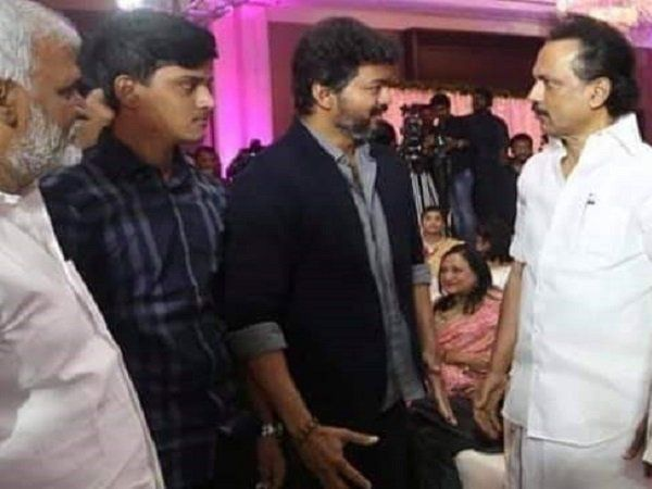 Actor Vijay met DMK leader M.K.stalin