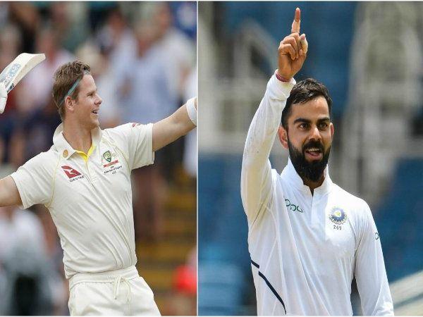 கோலியை பின்னுக்கு தள்ளி டெஸ்ட் ரேங்கிங்கில் ஸ்மித் முதலிடம், Smith pushes kohli to second spot to gain No1 rank in Test