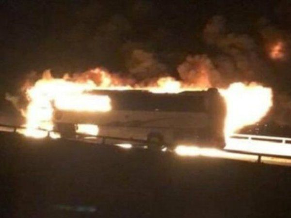 Saudi Arabia bus fire accident 35 foreigners dead