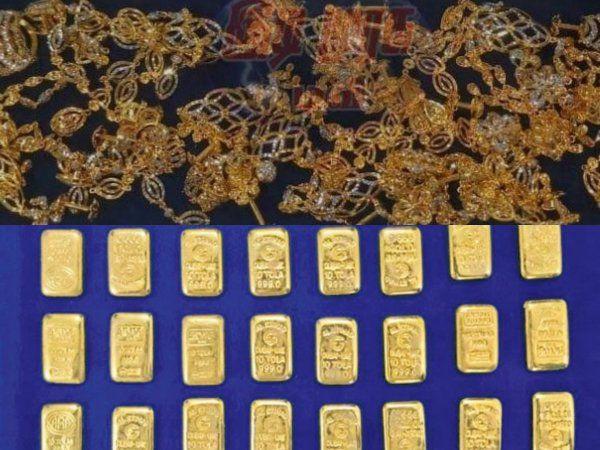 Gold seized in Chennai, Trichy Airports, சென்னை திருச்சி விமான நிலையங்களில் தங்கம் பறிமுதல்