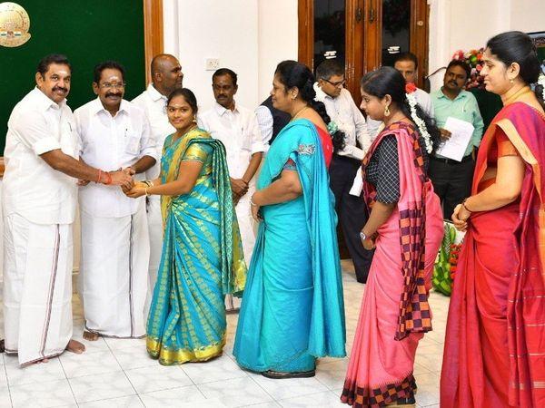 TN CM inaugurates free laddu distribution  scheme