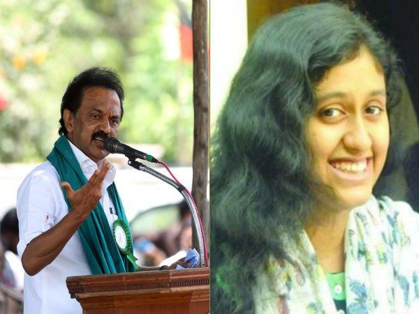 MK Stalin urges governement to take action the suicide of fathima latheef